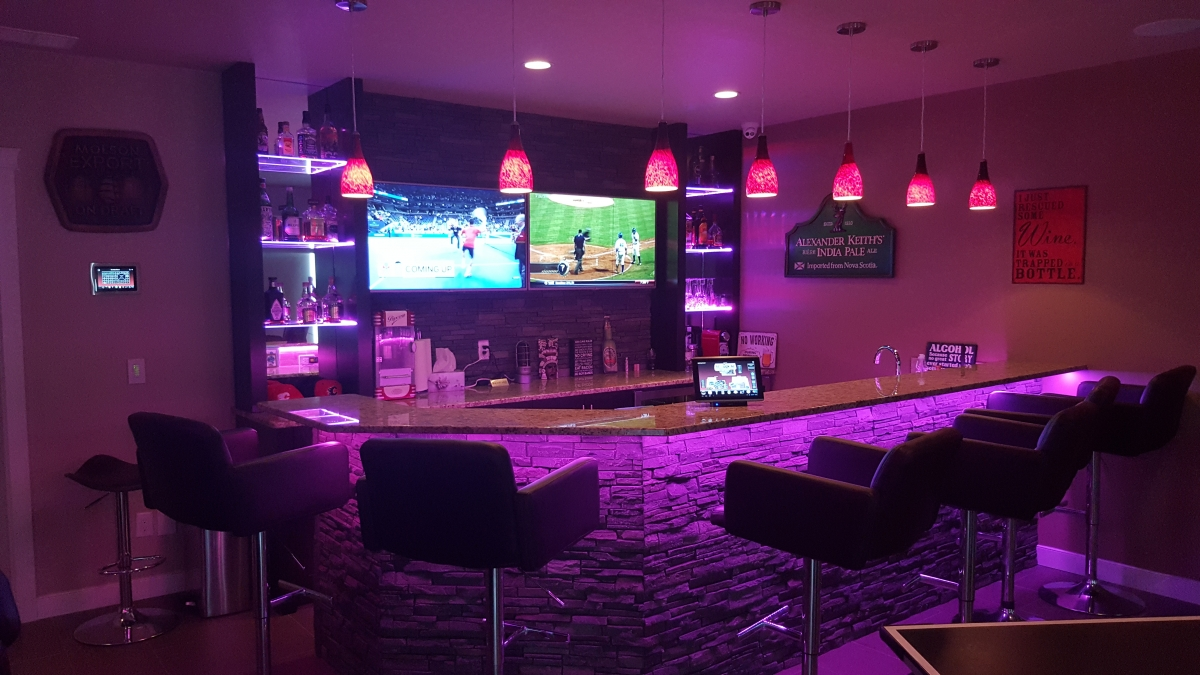 basement bar lighting. ledstriplightingbasementbar 8 basement bar lighting